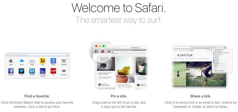 Publieke beta El Capitan: welkom bij Safari.