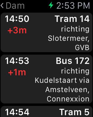 Bus & Trein Apple Watch 2