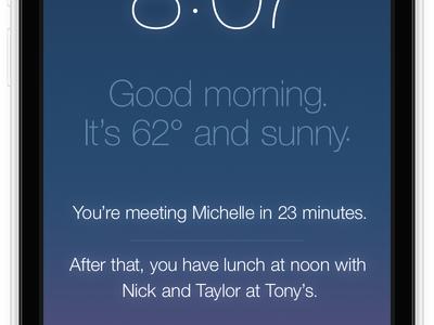 iPhone ontgrendelscherm Mantia 2013