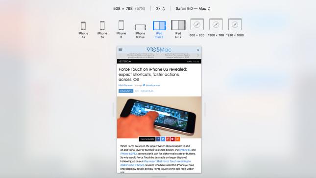 iPad mini 4 splitview