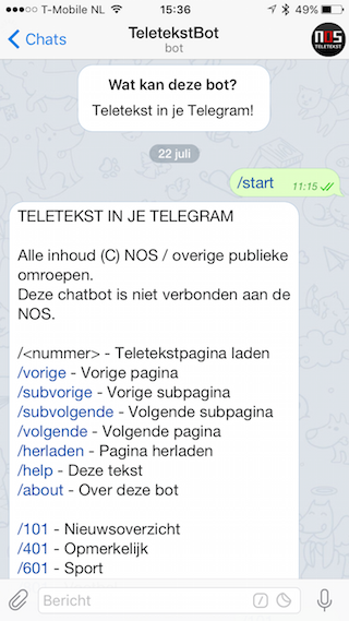 Telegram Teletekst Bot