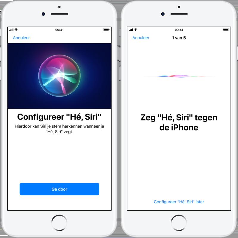 Siri trainen en opnieuw instellen