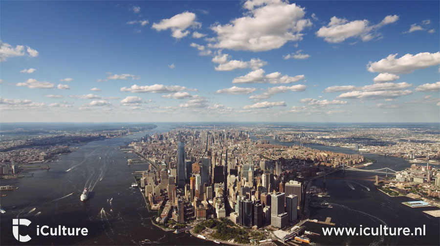 Apple TV screensaver van New York