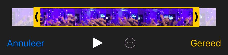 Videofragment inkorten op iPhone