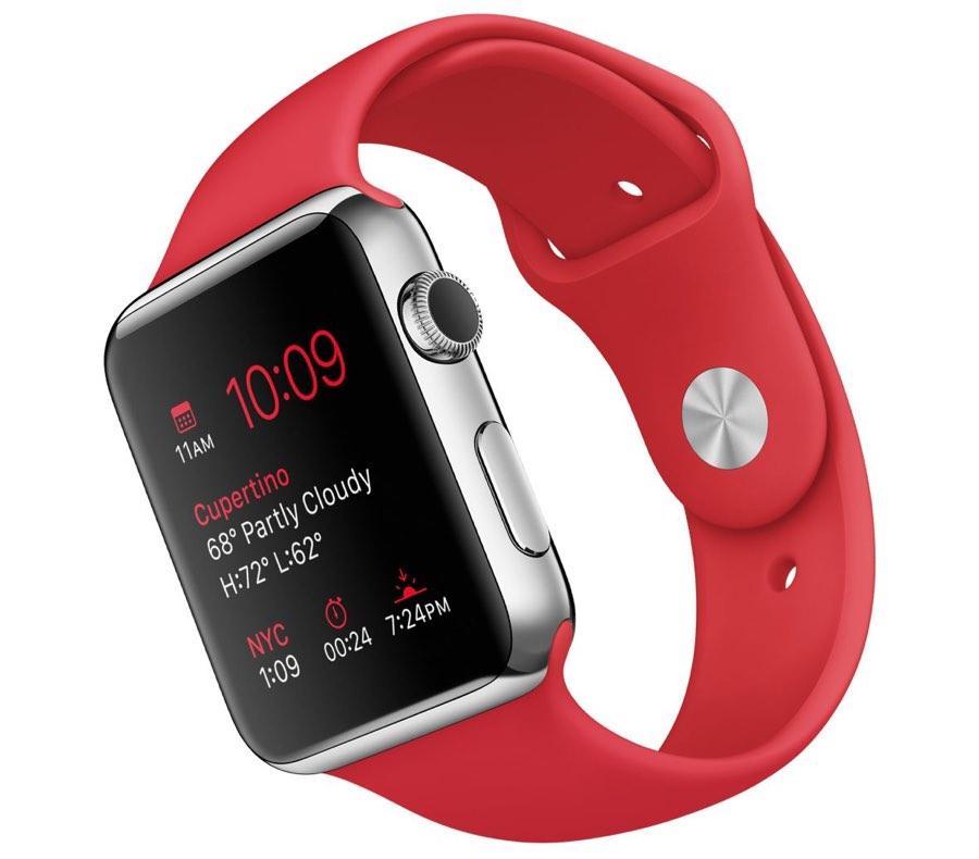 Apple Watch Sport rood bandje