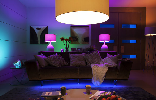 Philips Hue in de woonkamer