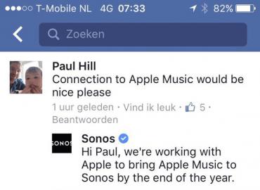Sonos met Apple Music
