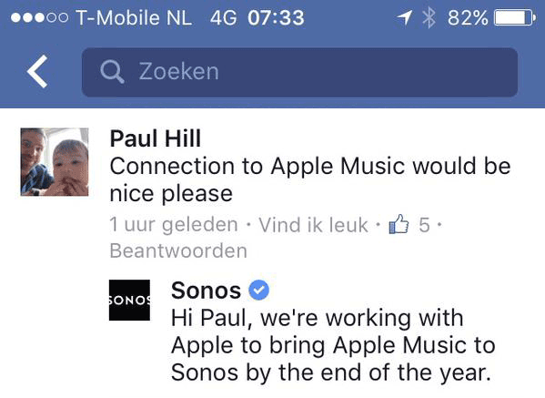 Sonos met Apple Music