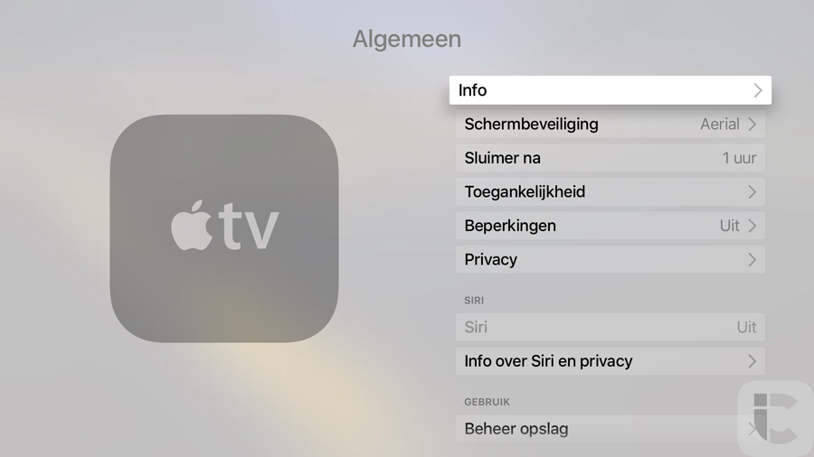 Apple TV 4, algemene instellingen
