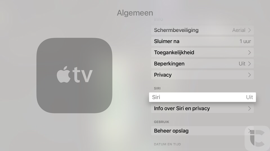 Apple TV 4 in het Nederlands met Siri
