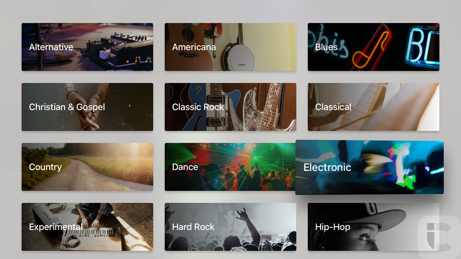 Apple TV 4: Apple Music editors op de nieuwe Apple TV.