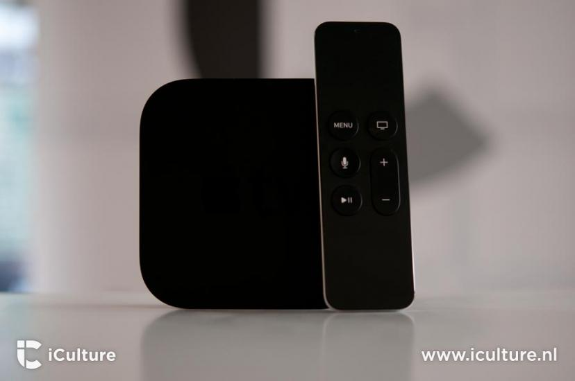 Apple TV 4 met iCulture-logo.