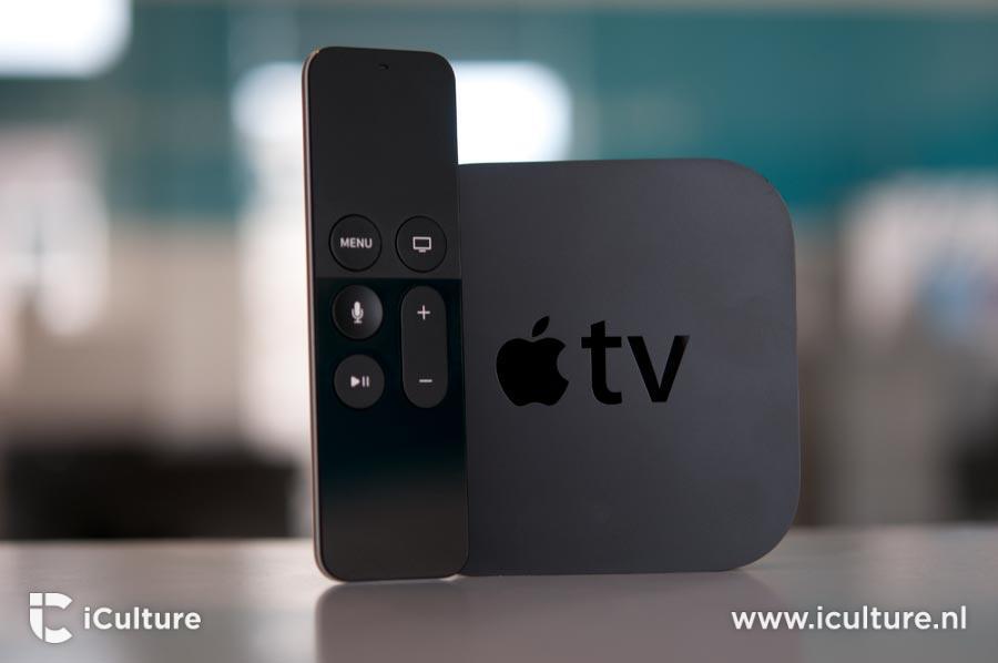 Apple TV 4 met blauwgroene achterkant