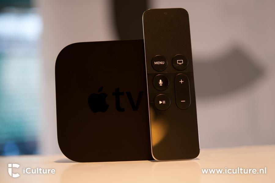 Apple TV rechtop
