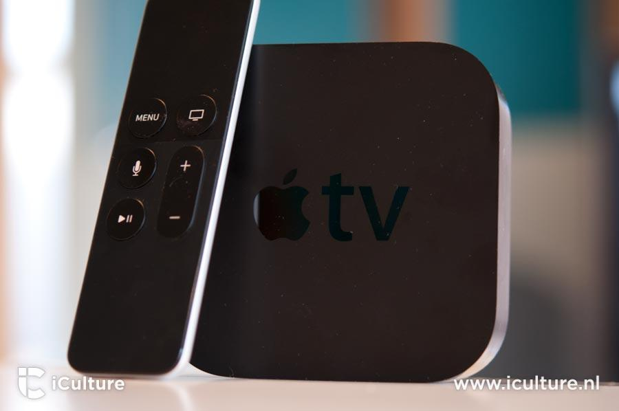 Apple TV 4 met remote.