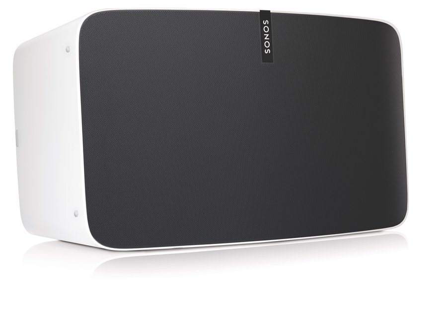 Sonos PLAY:5 wit, zijkant.