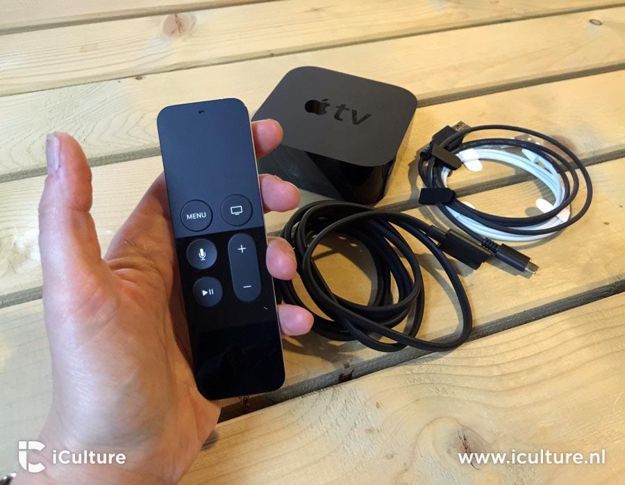 Apple TV 4 inhoud doos.