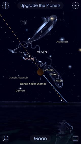 Star Walk met stand van de maan.