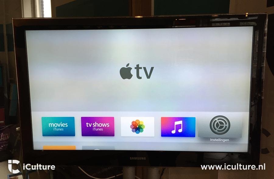 Startscherm van de Apple TV 4.