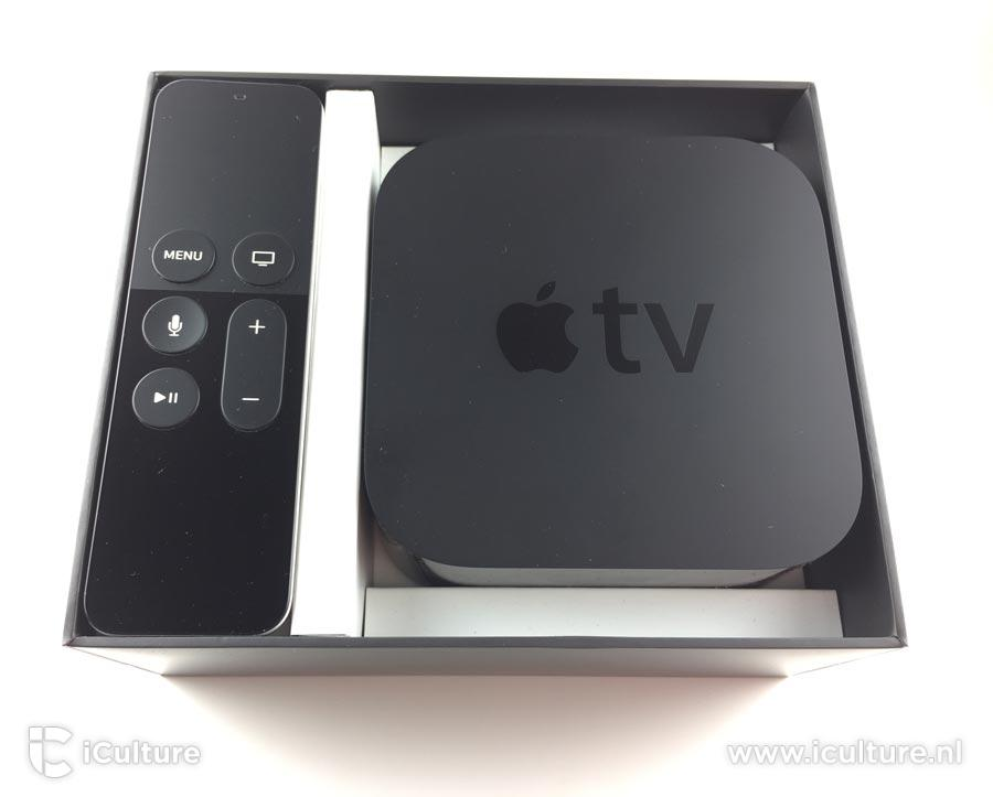 Apple TV 4 in doos.