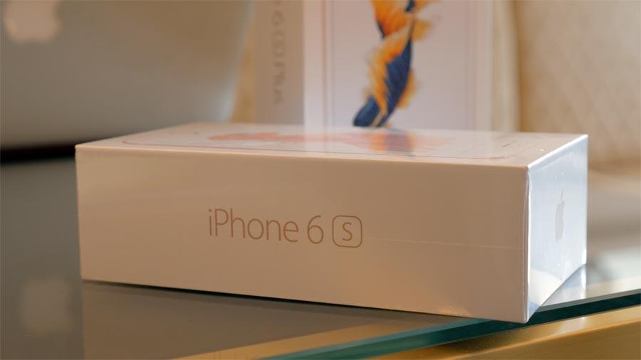 Het losse doosje van de iPhone 6s.