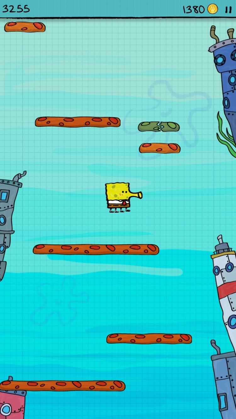 Doodle Jump SpongeBob SquarePants editie.