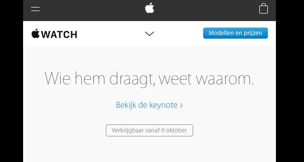 Apple Watch België 9 oktober