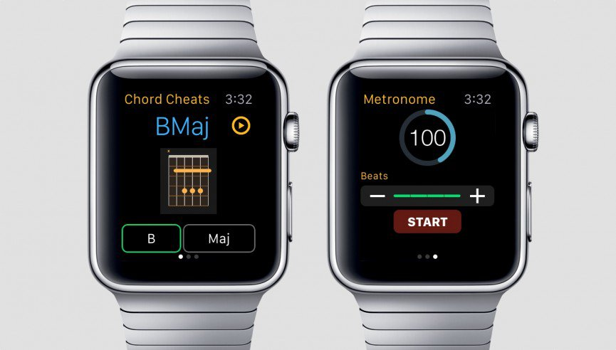 Chord Cheats op de Apple Watch.