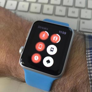 Streaks app op de Apple Watch.