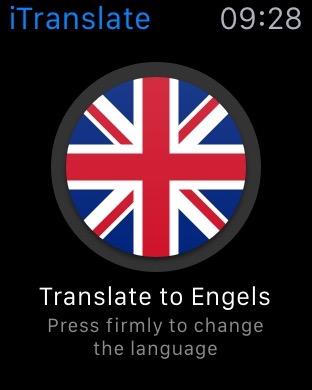 iTranslate naar het Engels vertalen.