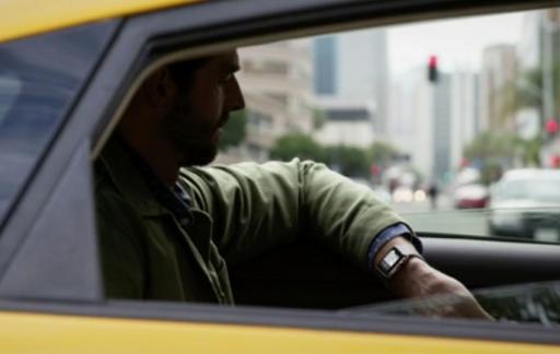 Apple Watch in een taxi.
