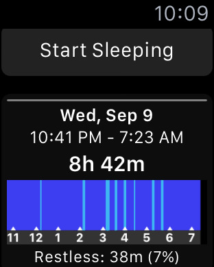 Sleep++ voor de Apple Watch.