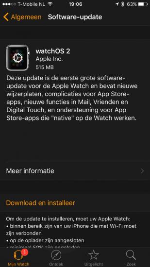 WatchOS 2 update