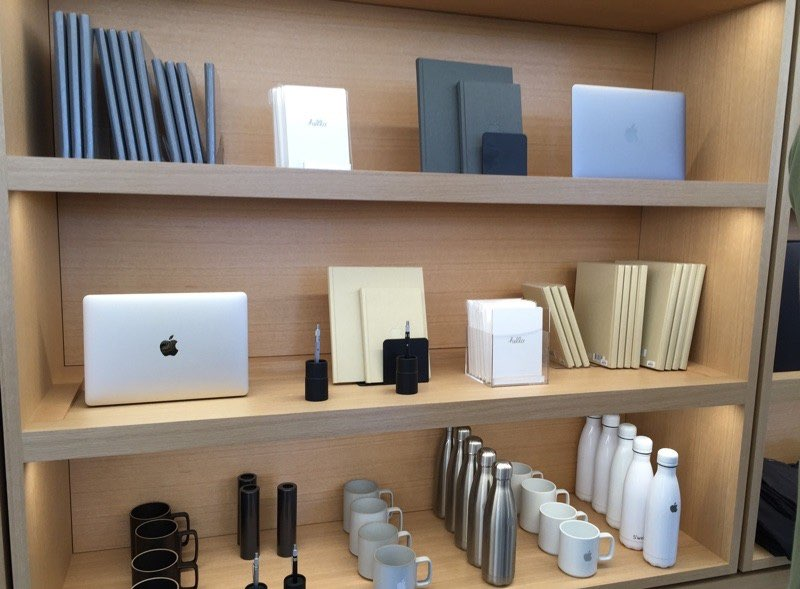 Apple Company Store merchandise.