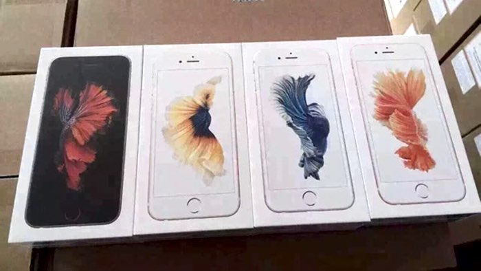 Verpakking iPhone 6s kleuren.