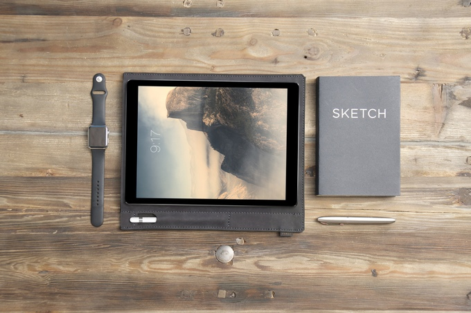 Pad & Pencil is een leren hoes voor de iPad Pro.