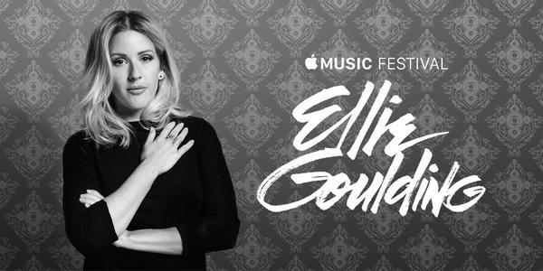 Apple Music Festival met Ellie Goulding.