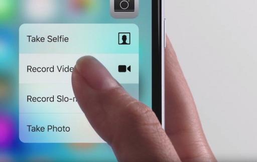 3D Touch op iPhone 6s: scherm indrukken.