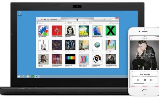 iTunes op een Windows-pc.