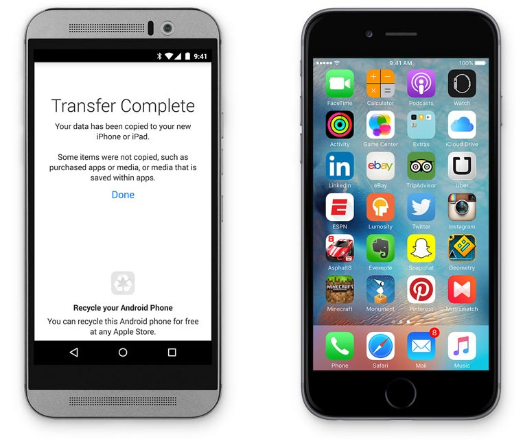 Overstappen van Android naar iPhone.
