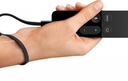 Apple TV remote bediening voor games.