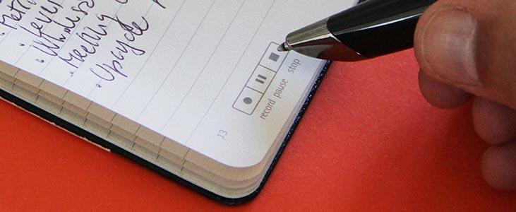 Livescribe-pen met boekje.