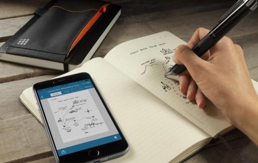 Moleskine Livescribe smartpen in gebruik