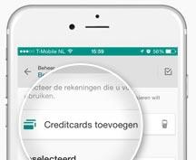 ABN AMRO creditcard toevoegen aan de bankier-app.