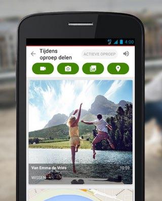 Vodafone Call+ foto delen tijdens bellen.