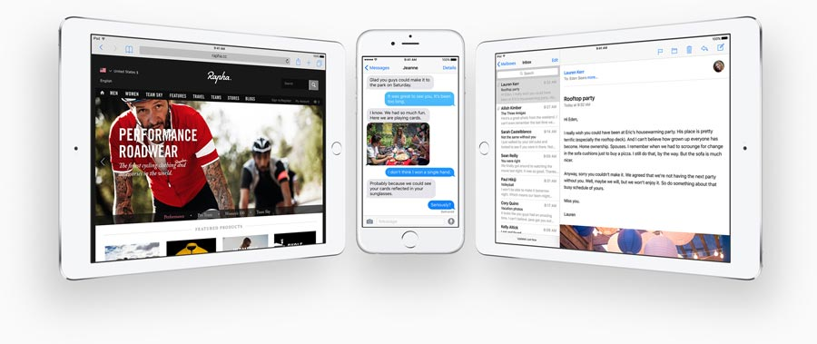 Vernieuwingen in iOS 9 op iPhone en iPad.