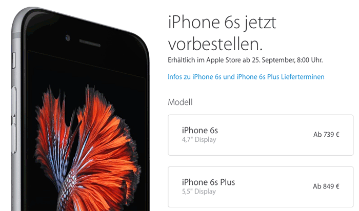 iPhone reserveren in Duitsland.
