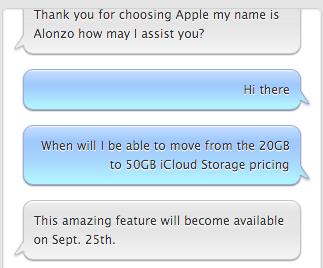 iCloud prijsverlaging 25 september