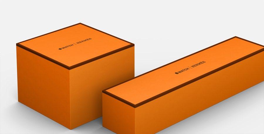 Verpakking van de Apple Watch Hermes edition.