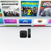 Apple TV 4 met televisiescherm.